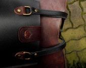 black-brown handbag, leather bag, woman's bag, modern bag, urban bag, leather tote, small tote,