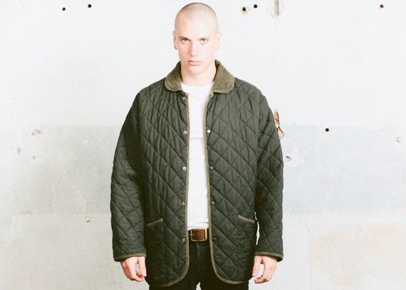 Khaki Green Parka Jacket . Vintage 80s Mens Quilted Jacket : quilted jacket green - Adamdwight.com