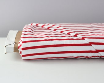 Red and White Striped By The Yard