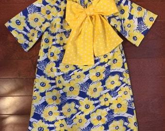 Blue & Yellow Spring Dress