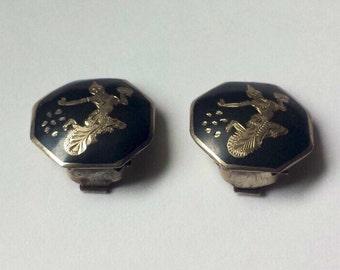 Sterling Silver .925 Siam Earrings
