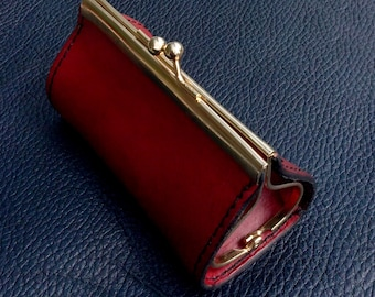 LEATHER COIN PURSE with zip