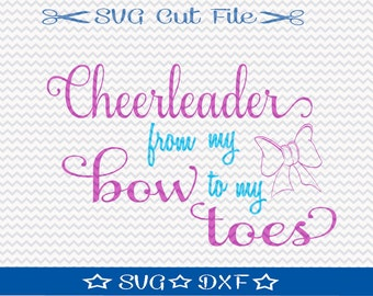 Cheerleader SVG File / SVG Cut File /  SVG Download / Silhouette Cameo / Digital Download / Cheer svg