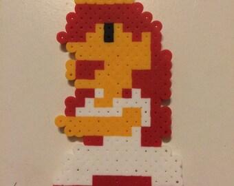 Princess Peach Perler Bead Sprite (Super Mario Bros)