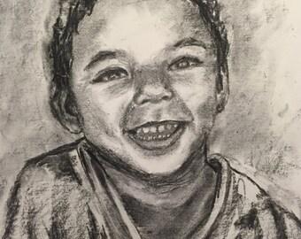 Custom Portrait Charcoal/Graphite Drawing