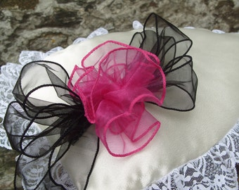 SOFT BLOOM.   Corsage Hair Comb , Organza