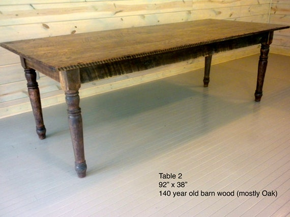 Harvest table repurposed wood dining table old growth wood for Repurposed dining table