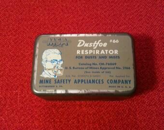 Dustfoe Respirator #66 Mine Safty Appliances Company 1940's