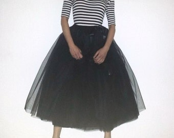 Tulle petticoat Black 85 cm skirt