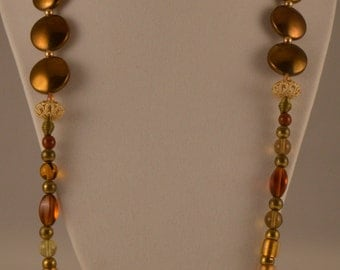 """26"""" Brown & Gold Necklace"""