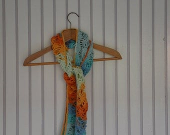 Crochet summer scarf ' Beach '