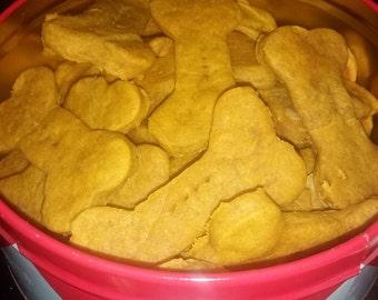 PB & Pumpkin Dog Biscuits