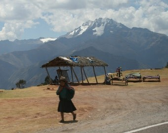 Traditional Peruvian Lady in the Andes