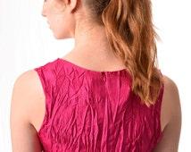 Ruby Crunch Travel Silk Dress Holiday Dress Party Reception Knee Length Dress Colour Blocked Dress Plus size Dress Loose Fit Maternity Dress
