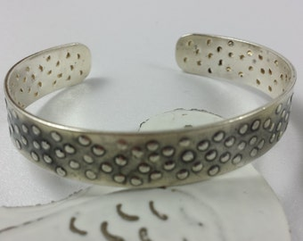 Sterling silver oxidised bangle