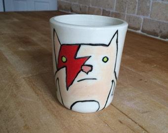 Bowie Cat Creature Mug #3 // Ziggy Starcat // David Meowie
