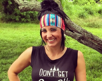 The Bandito..serape..Print headband