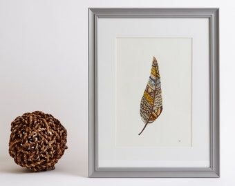 Framed Feather Print