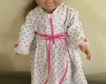 Doll Nightgown with matching Robe