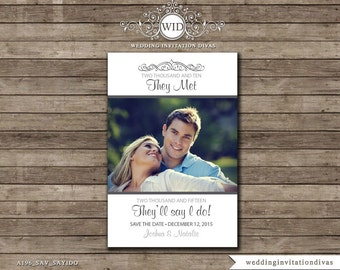 Wedding Save The Date Card, Save the Date Photo Card,  Save The Date Card, Digital Prinatable