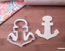 Anchor Cookie Cutter. Summer Cookie Cutter. Beach Cookie Cutter. Boat Cookie Cutter. Baking Gifts. Fondant Molds. Nautical Baby Shower.
