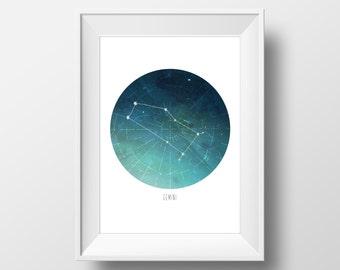 Gemini Constellation Print