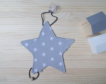 Doudou-Chupetero | Grey with stars