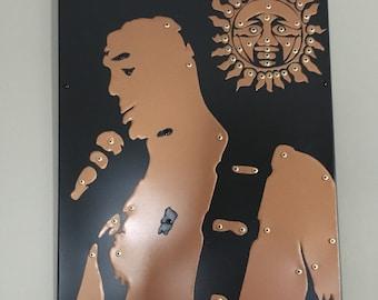"One of a Kind Metal Artwork ""Brad Nowell"""