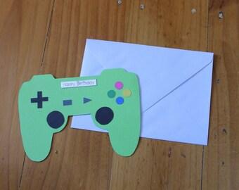 Playstation Controller - Birthday Card