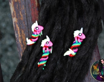"Bead for dreads "" Lady Rainicorn "". Adventure Time"