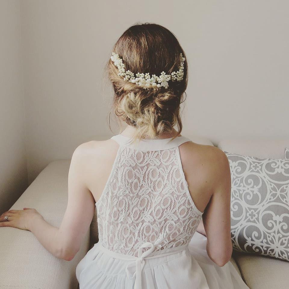 Bride Head Piece: Flower Crown Wedding Hair Piece Bridal Head Piece Bridal