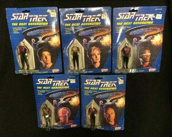 5 Star Trek Generations figures Galoob 1988
