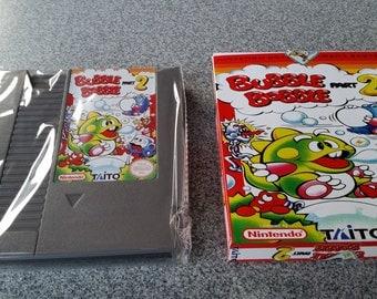 Bubble bobble part 2 NES nintendo reproduction comes with a box