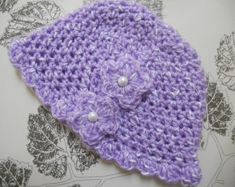 Baby Hat, Crochet Baby Hat, Crochet Baby Girls Hat