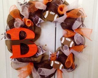 Cleveland Brown Wreath