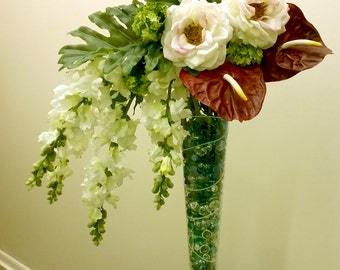 Snap dragon flowers arrangement F1516