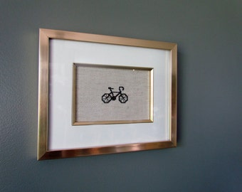 Life is a Beautiful Ride Bicycle Stitching