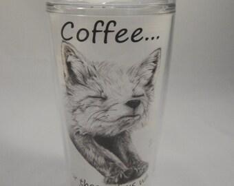 Foxy 16 oz. Travel Mug