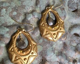 Anatólia Byzantine Labradorite Teardrop Earrings