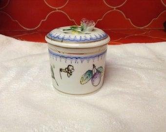 Vintage Handpainted Trinket Box