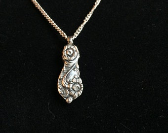 Antique Spoon Handle Pendant Necklace