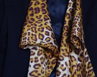 Black Blazer with glue leopard