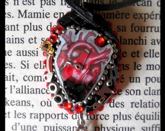 """The mechanics of the heart"" pendant"
