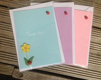 Pack of 3 Thank You Cards