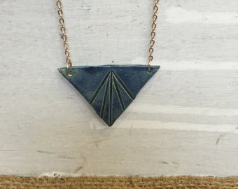 Geometric Ceramic Pendant