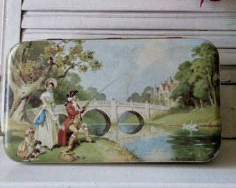 Vintage Tin, Biscuit Tin or Candy Tin, Scenic