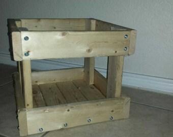 Rustic pine crate