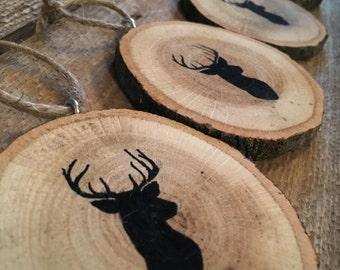 Wooden Deer Christmas Ornament