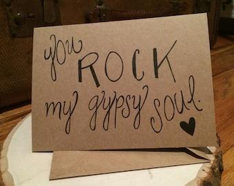 "Positive Paper ""Gypsy Soul"" Card"