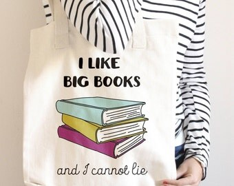 Funny Tote - Book Bag - Book Lover - Library Tote Bag - Canvas Bag with quote